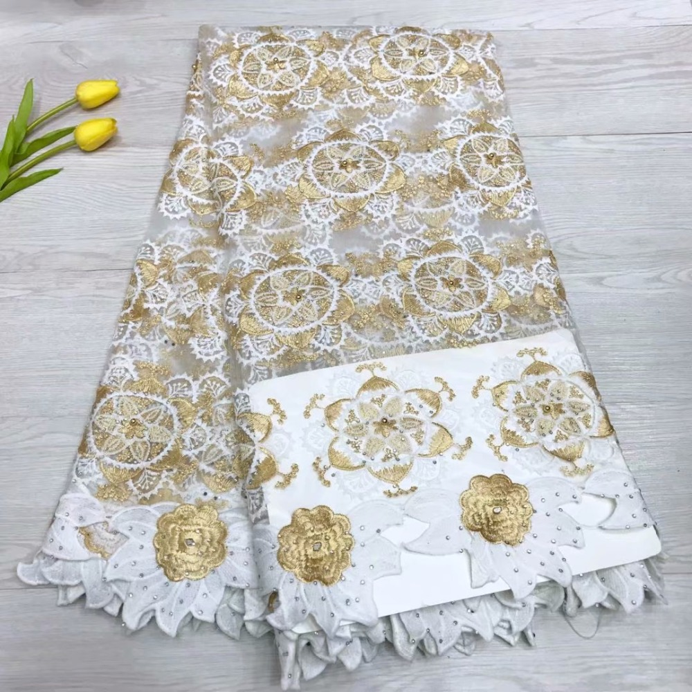 New Arrival Nigerian French Tulle Lace Fabric African Lace Fabric 5Yards For Women Elegant Party Dresses Best Selling New Arrival Nigerian French Tulle Lace Fabric African Lace Fabric 5Yards For Women Elegant Party Dresses Best Selling
