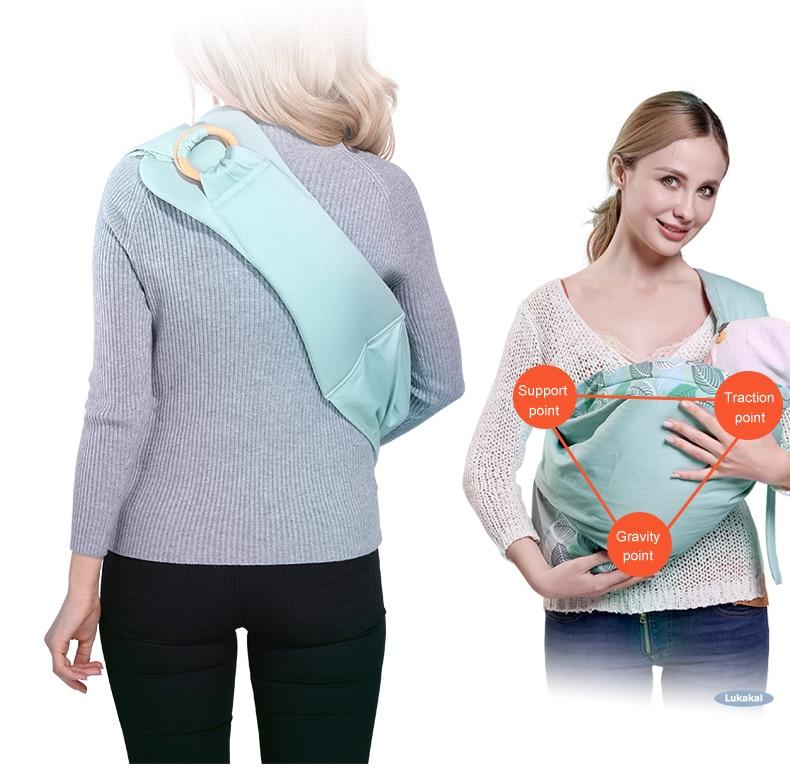 Portador de Bebê para Recém-nascidos Amamentar Nascimento Confortável Estilingue Quente