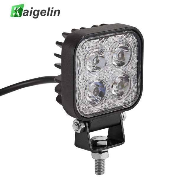 Kaigelin 12W LED Car Lights Spotlight Waterproof LED 12V Car Work Light Bulbs For Cars Auto Offroad Truck Boat SUV Car Lamps