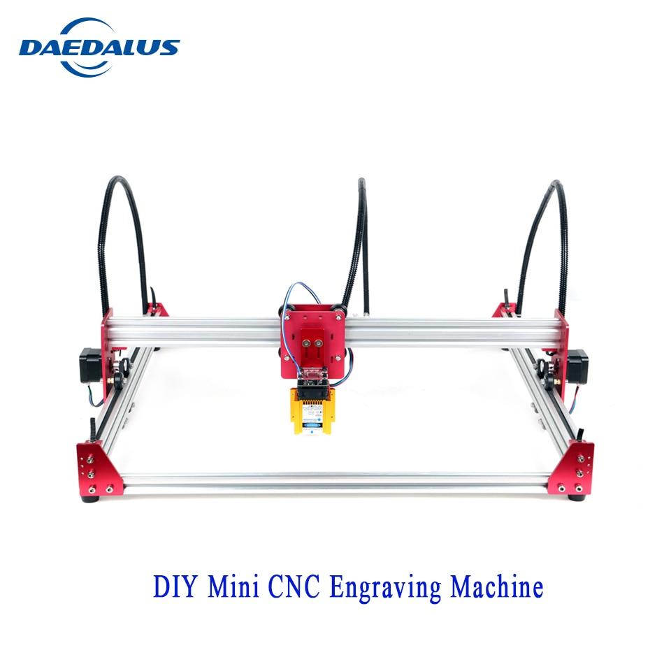 CNC bricolage Mini Machine de gravure 45*45cm 12v Laser gravure sur bois Machine de gravure prend en charge divers contrôles logiciels.