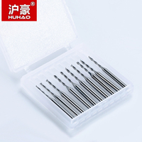 HUHAO 50 piece 3.175*1*7 mm 2 Flutes Spiral Milling Cutter