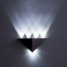 Crubon Треугольники с подсветкой настенный светильник чистый Алюминий ТВ свет Треугольники угол стены Современная мода