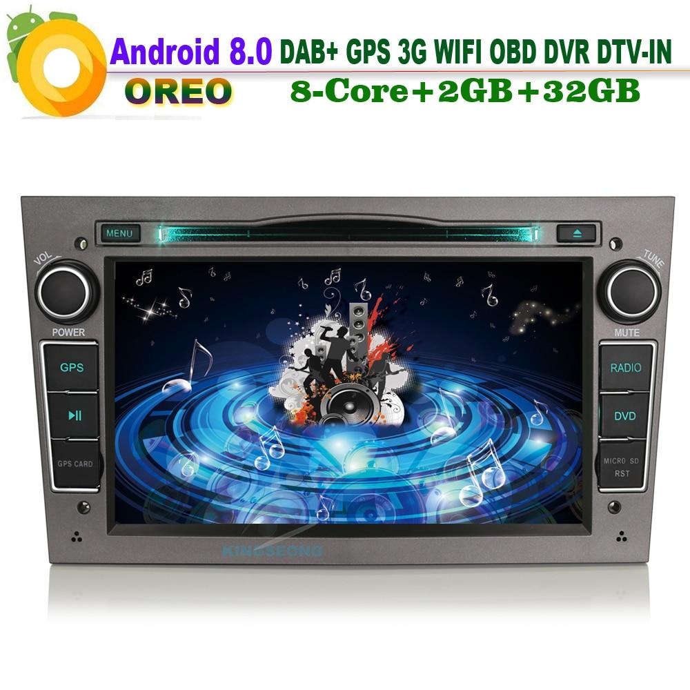 Android 8.0 DAB+ Sat Navi Autoradio WiFi 3G GPS SD DVD TV Radio RDS BT USB Bluetooth Car CD player FOR Opel Astra Vivaro Signum