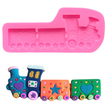 Cartoon Train Cake Pops Decorating Tools Moule Silicone Savon Silicon Mold for Gypsum Sugar Paste Mould Chocolate