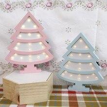INS Горячая Рождественская елка ночник скандинавский деревянный светодиодный настенный светильник, спальни, светильники прикроватных тумбочек, подарок для детей, домашнее освещение Decora