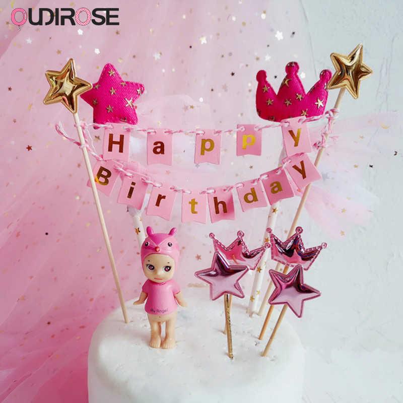 יום הולדת שמח עוגת טופר משפחת ילד יום הולדת מסיבת חתונה עוגת קישוט קצר מעיל חדש שנה שחור זהב עוגת למעלה קישוט