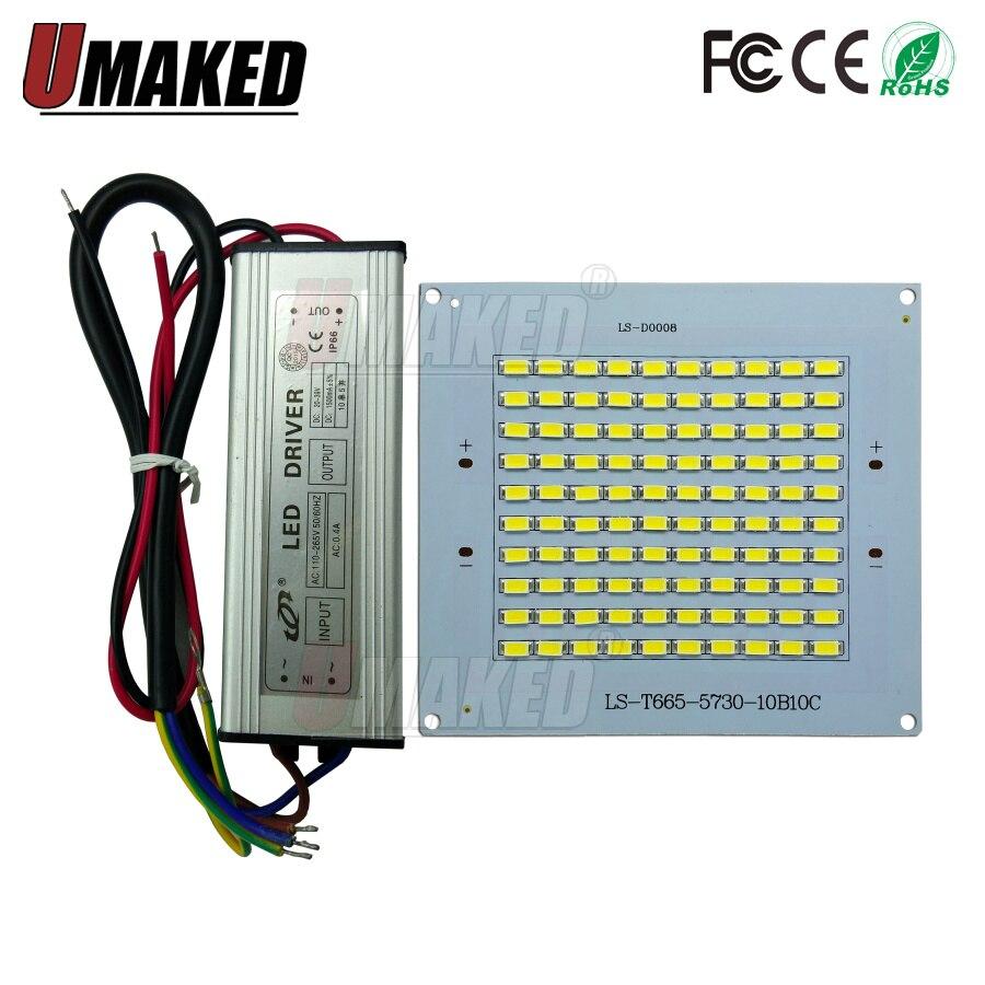 100% volle Power LED flutlicht quelle 10 watt 20 watt 30 watt 50 watt 100 W 150 watt 200 watt SMD5730 led PCB board + wasserdichte fahrer led pcb board
