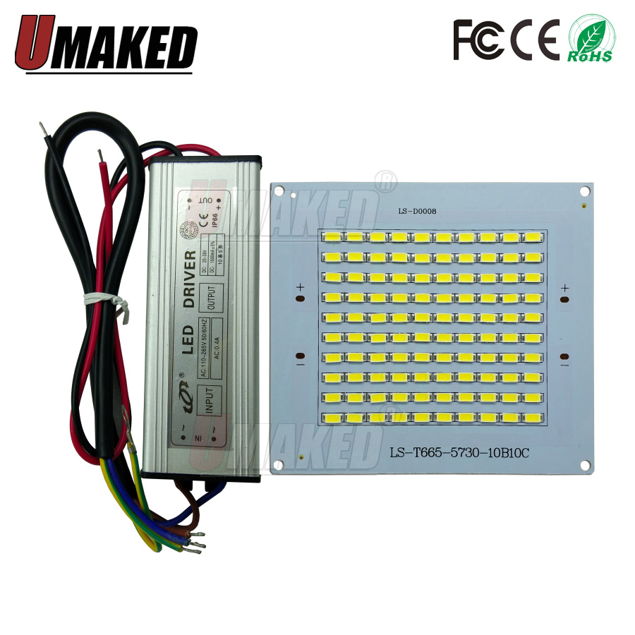 1set 100% Full Power LED Floodling PCB 10W 20W 30W 50W 100W 150W 200W SMD5730 led PCB board+waterproof driver for led floodlight