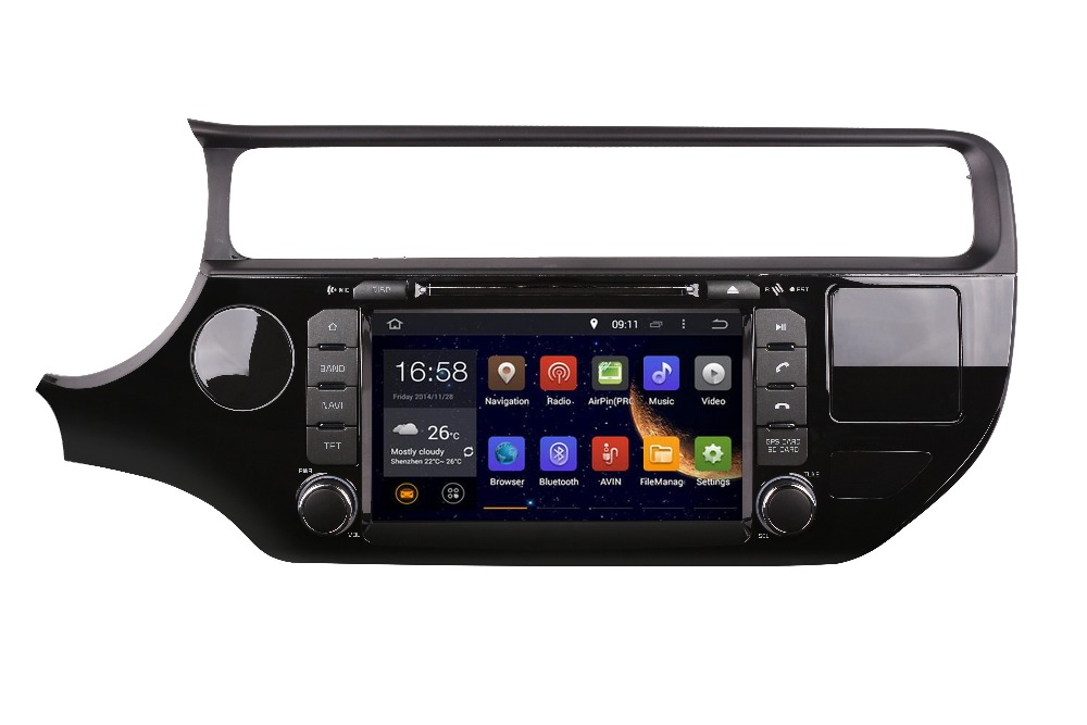 GIFTS ROM 16G Quad Core Android 7.1 Fit Kia RIO 2015 2016 2017 CAR DVD PLAYER Multimedia Navigation DVD GPS STEREO RADIO VEDIO