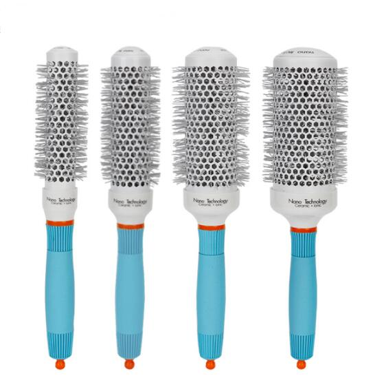Thermal Nano Technology Ceramic Ionic Hair Round Brushes Aluminum Hair Barrel Comb In 4 Sizes Hairdressing Brushes Hair Styling