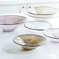 European Glass Straw Hat Bowl Simple Tableware Salad Bowl Home Kitchen Dessert Bowl