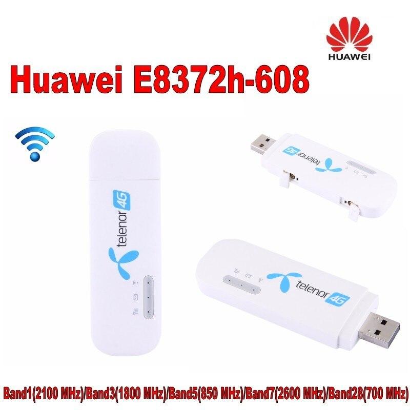 100 pièces débloqué Huawei E8372 E8372h-608 Wingle LTE universel 4G USB Modem voiture wifi
