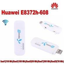 100 шт. разблокирована huawei E8372 E8372h-608 Wingle LTE Универсальный 4 г USB модем автомобилей, Wi-Fi
