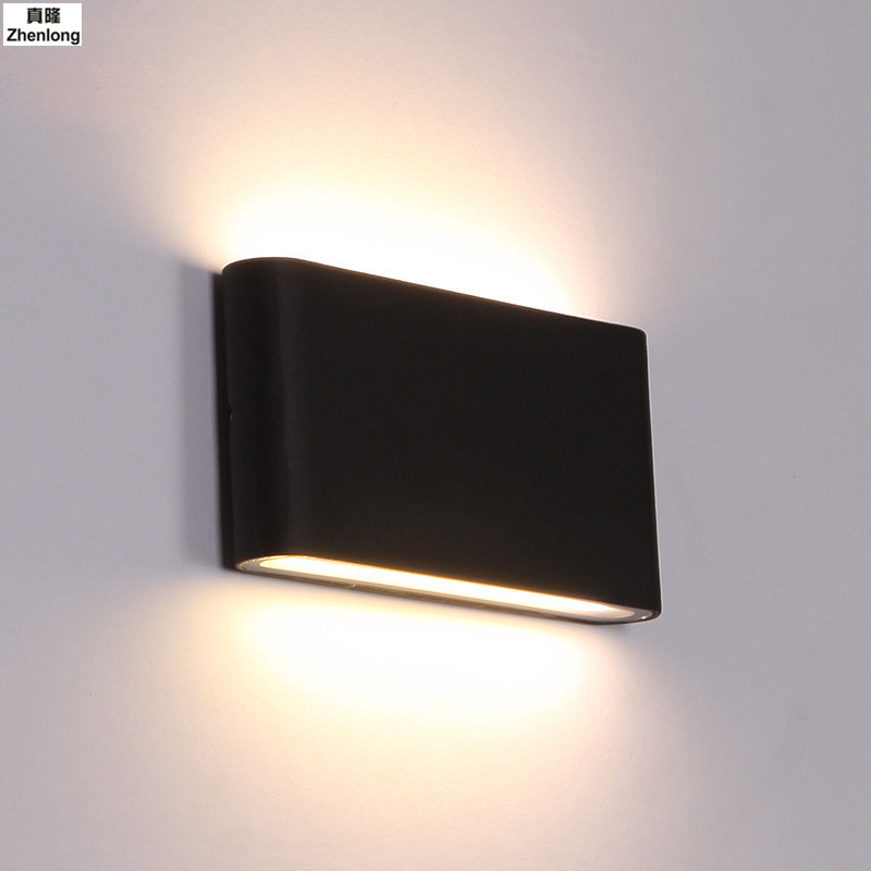 Modern Outdoor Waterproof Wall Lamp IP65 6W/12W LED Wall Light Indoor Decoration Bedroom Beside Lamp Corridor Garden Lighting modern waterproof cube cob led light wall lamp home lighting decoration garden outdoor indoor wall lamp aluminum 6w 12w ac 220v