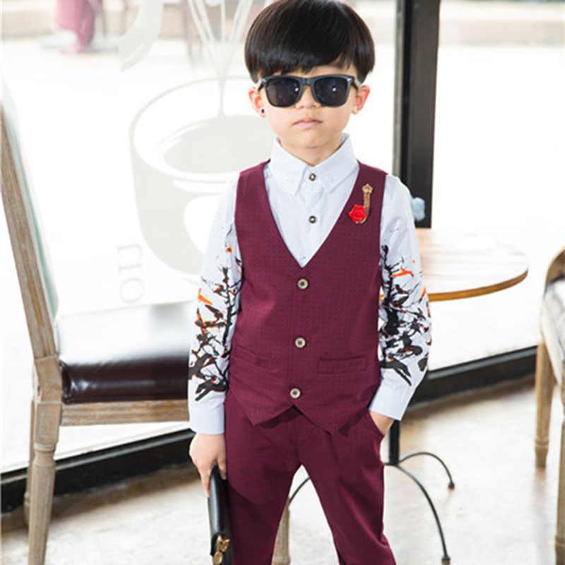 36ba75121b2a 2 3 4 5 6 8 Years Baby Boys Gentleman Clothing Sets Boy Small Dress Wedding