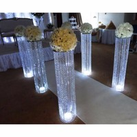 6pcs/lot New arrival 120cm tall 18cm diameter acrylic crystal wedding road lead wedding centerpiece event party decoration