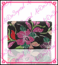 Aidocrystal pure handmade colorful fancy flower pattern women handbag for wedding