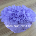 New Summer Hot Sale 9colors Selection 100% Pure Cotton Baby Girl Chiffon Ruffle Short Bloomers Diaper Cover