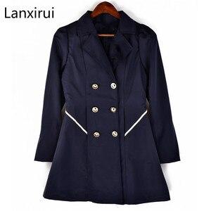 Image 2 - Trench Coat à manches longues pour femme, Trench Coat à manches longues, manteau dhiver classique à taille fine, offre spéciale