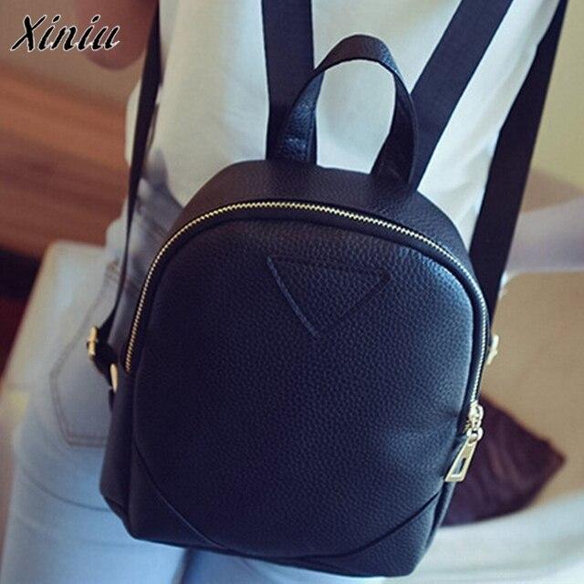 Bolsas 2017 Women s Backpack Travel Leather Rucksack damen Shoulder bags  Bolsa feminina School bags for women Mochila escolar 785fd7ba90704