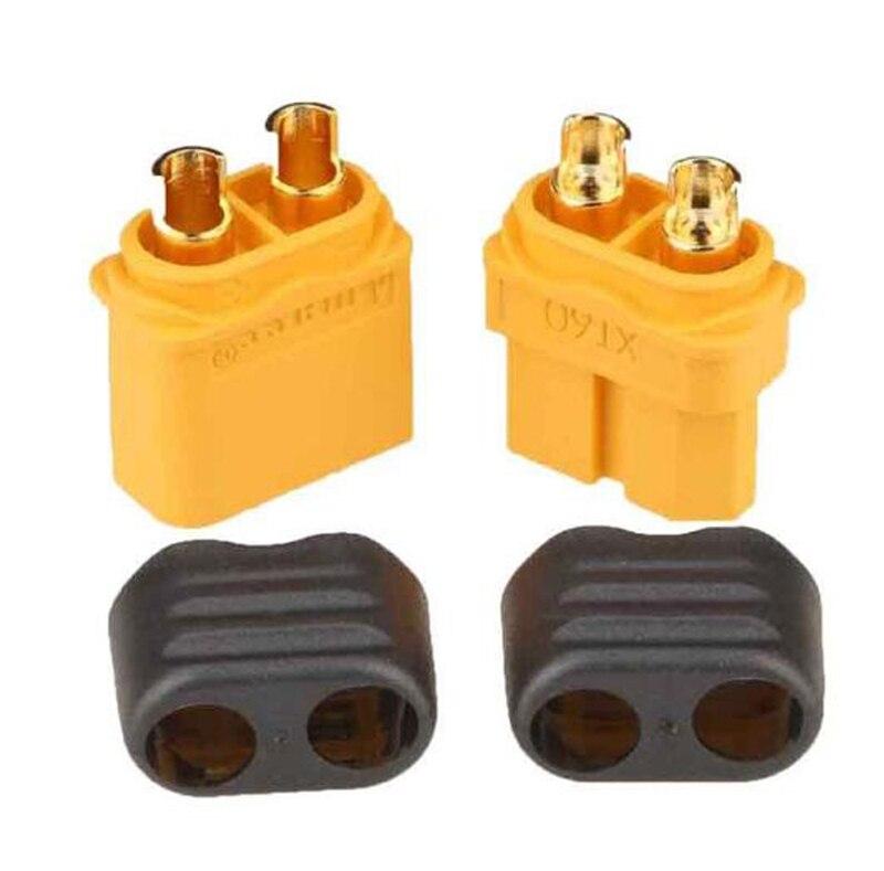 मूल Amass XT60 + XT-60 प्लग पुरुष महिला बुलेट कनेक्टर्स आरसी लाइपो बैटरी के लिए जैकेट के साथ XT60 प्लग