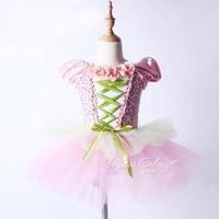 Kids To Girl Ballet Perform Costume New Stage Summer Ballet Costume Elegant Purple Swan Lake Dancing