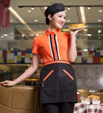 short sleeve chinese waiter uniform fashion restaurant waiter uniform summer waiter waitress uniform