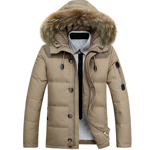Winter Jacket Men Down Parkas Real Duck Down Feather Men Jacket ...