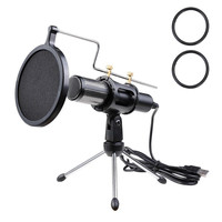 Condenser USB Microphone w/ Tripod Stand for Game Chat Studio Recording Computer Professional