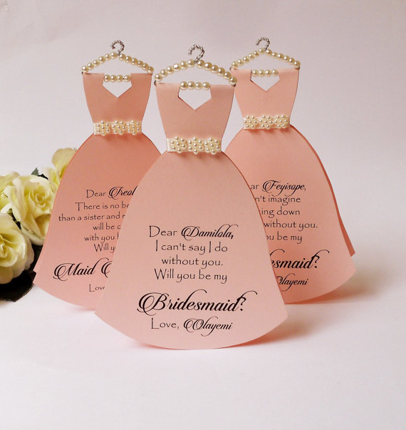 custom Will you be my bridesmaid maid of honor Proposal