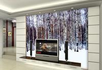 Custom 3d Wallpaper White Birch Backdrop Decorative Painting Mural 3d Wallpaper 3d Wallpaper For Room