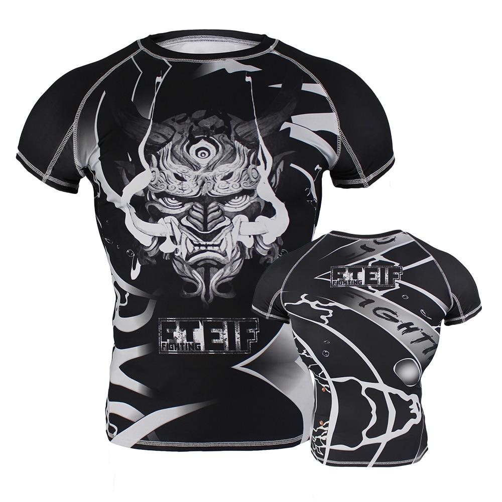 Shirt Martial Art Sports Rash Guard Tiger Muay Thai Boxing Shirt Mma Fight T