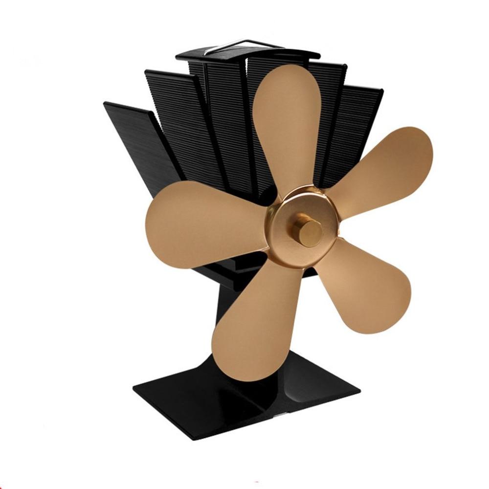 2504 Blades Heat Powered Stove Fan Home Silent Heat Powered Stove Fan Ultra Quiet Wood Stove Fan Fireplace Fan