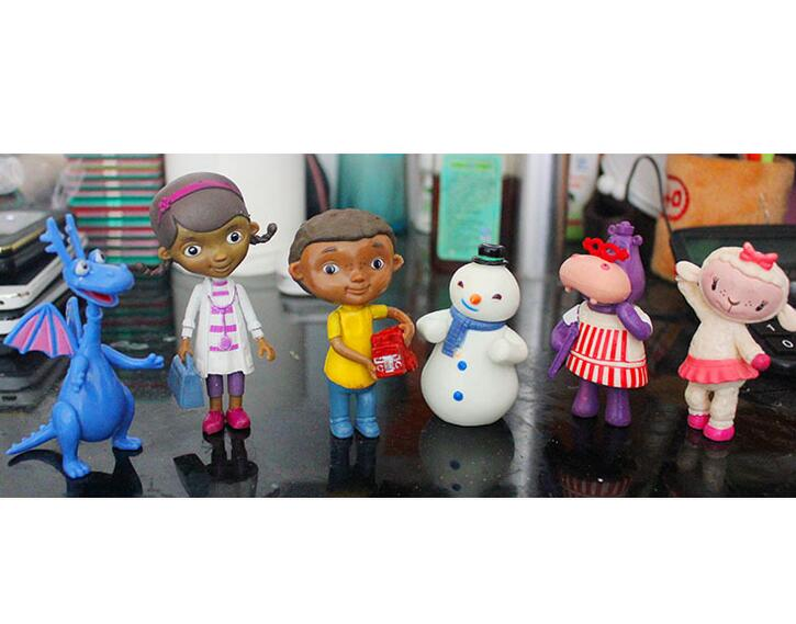 6 Pcs/Set Doc McStuffins PVC Action Figures Doctora Juguetes ...