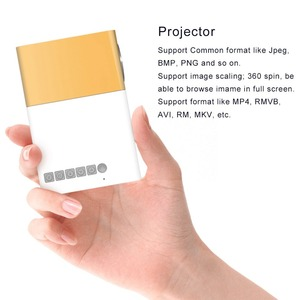 Image 2 - YG300 מיני נייד מקרן LCD LED Proyector HDMI AV USB SD 400 600 לום קולנוע ביתי ילדי חינוך Beamer HD Projetor