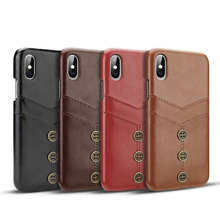Cong Fee card holer wallet phone case high quality PU leather for iPhone XS Max XR  X 7Plus 8Plus 7 8
