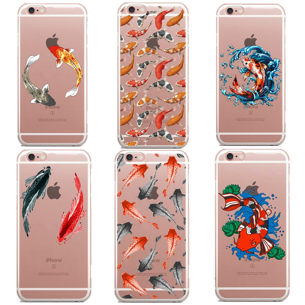 Maifengge Koi Carp Fish Japanese Floral Cherry Case For Iphone 6 6s 7 8 Plus X 5 5s Se Case Cover For Samsung S5 S6 S7 Edge S8 Cellphones & Telecommunications