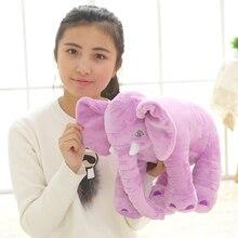 40cm Long Nose Elephant Sleep Pillow Baby Plush Toy Lumbar Cushion Doll