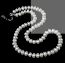 Women Gift Freshwater Pretty 7-9mm Brown Color Natural Pearl White Gilded Necklace Jewelry