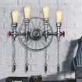 Лофт стиль Железный водопровод лампа Эдисона бра RH Ретро Настенные светильники домашние винтажные промышленные светильники