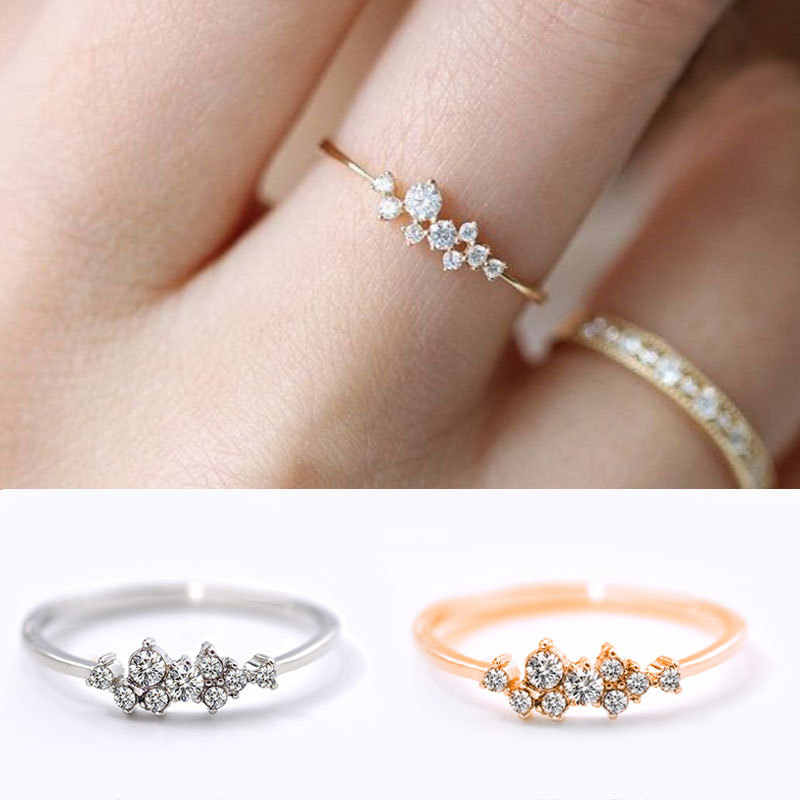 ngagement Stainless Steel Rings For Women Silver Rose Gold 2019 Trendy White Party Women's Ring