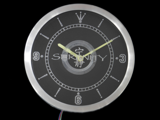 nc0229 Firefly Serenity Neon Sign LED Wall Clock