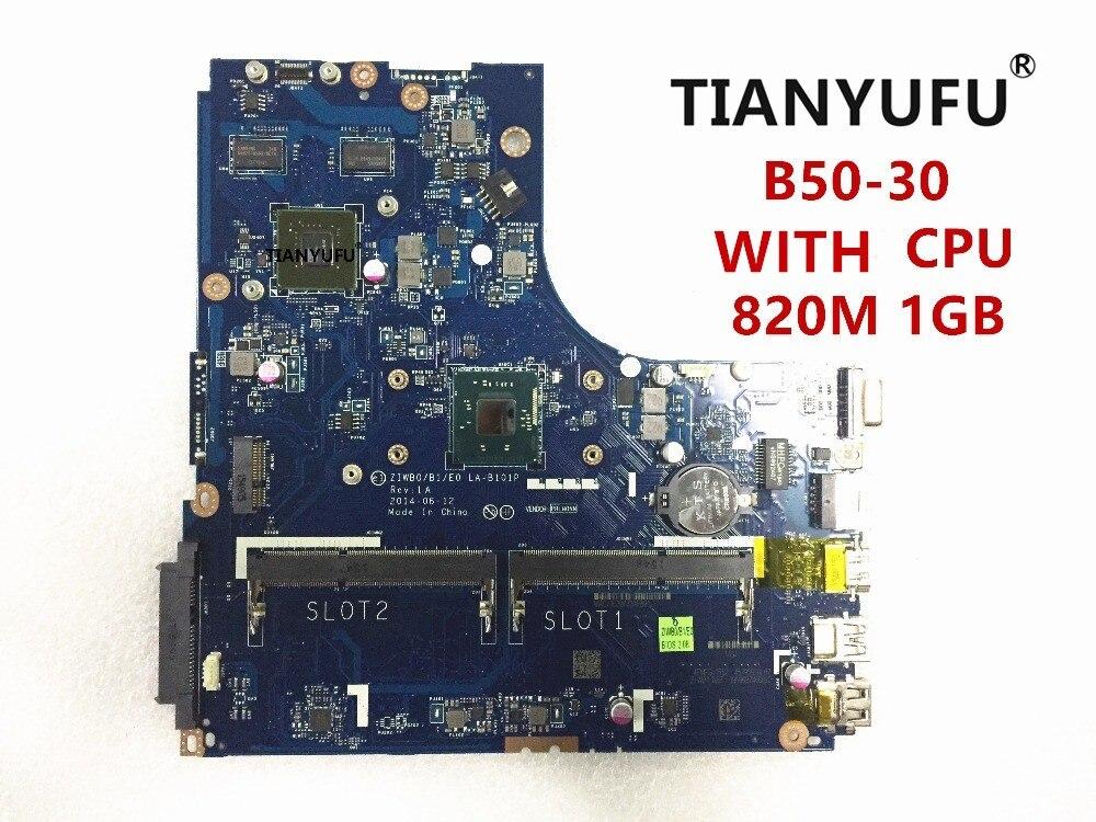 ZIWB0 B1 E0 LA B101P motherboard for lenovo B50 30 laptop Motherboard for intel CPU GT820M