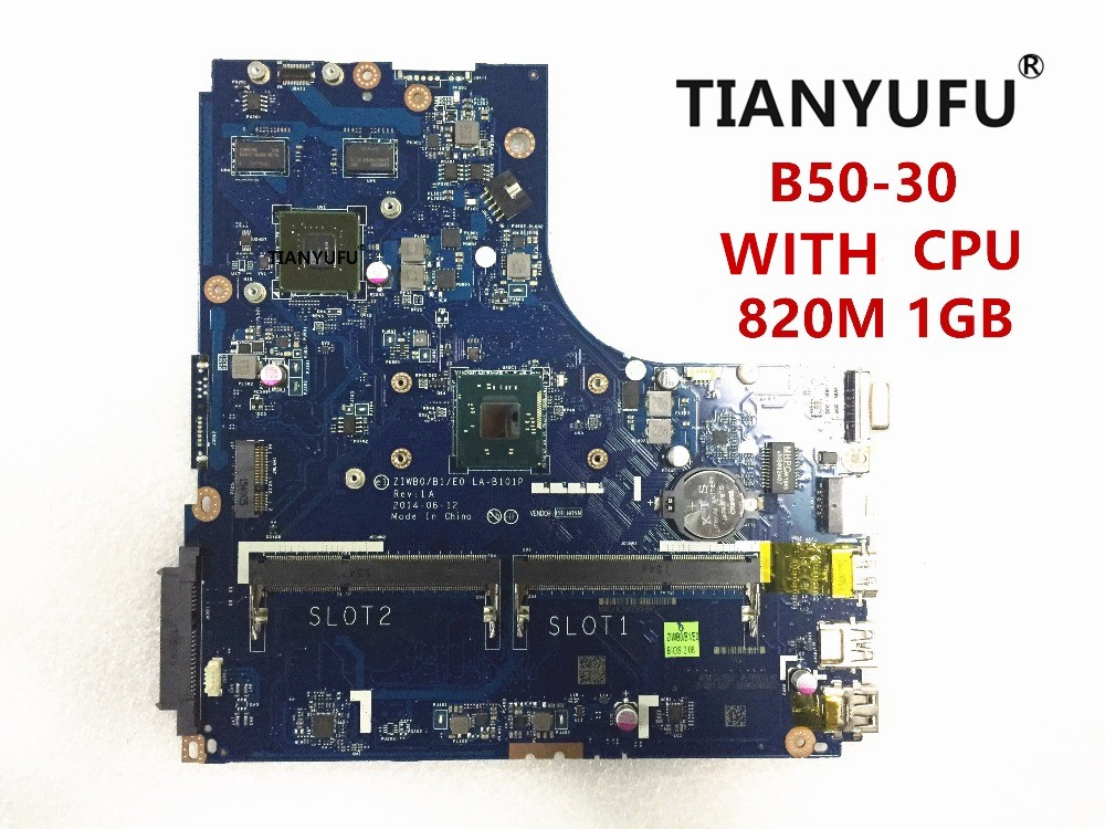 ZIWB0/B1/E0 LA B101P motherboard for lenovo B50 30 laptop Motherboard for intel CPU( GT820M 1GB video card )tested 100% work-in Motherboards from Computer & Office    1