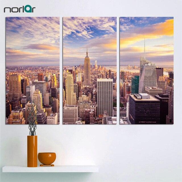US $11.73 49% di SCONTO|3 pezzi New York city Immagine Tela Pittura Moderna  di Arte Della Parete per Soggiorno Senza Cornice Decorativa Paesaggio ...