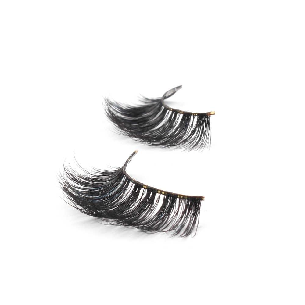 cb907e81316 ... VVHUDA Mink Eyelashes Fake Lashes 3D Extension 100% Handmade 5 Pack Natural  False Crisscross Voluminous ...