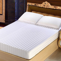 Premium Queen White Cotton Mattress Cover for Hotel Hypoallergenic Dust Mite Proof Mattress Protector Fitted Mattress Pad