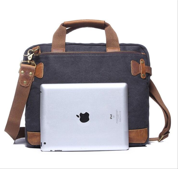 G-FAVOR Men Canvas Vintage Casual Briefcase Business Shoulder Bag Messenger Bags Computer Laptop Handbag Bag Men's Travel Bags