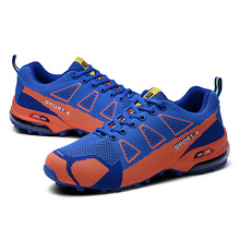 ФОТО big size 39-47 sneakers man mesh breathable air cushion running shoes men shoes sport man outdoors walking anti-skid sneaker new