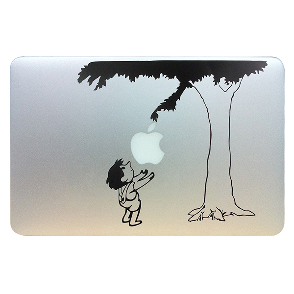 Child under the tree funny vinyl laptop skin decal fits for apple macbook pro air